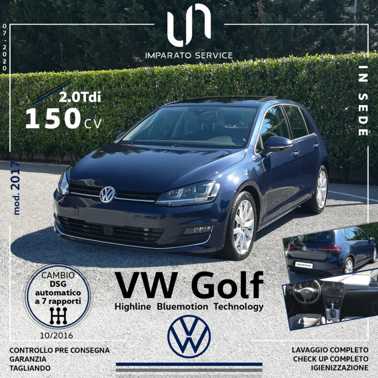 Volkswagen Golf 2.0 TDI 150Cv/110Kw Highline Bluemotion Technology