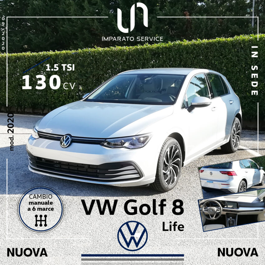 Volkswagen Golf 8 Life 1.5 TSI 130Cv/96Kw