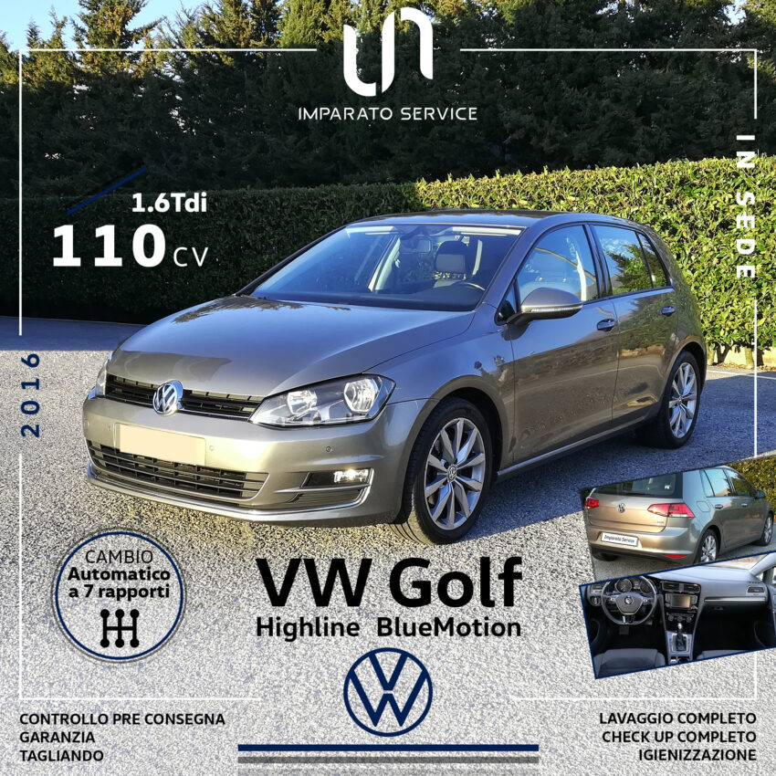 Volkswagen Golf 1.6 TDI 110Cv/81kw Highline BlueMotion